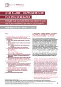 § 102 StaRUG - Haftungsrisiko für Steuerberater - präventive Maßnahmen zur Abwehr von Haftungsansprüchen nach § 102 StaRUG