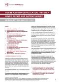 Aufbewahrungspflichten, -fristen sowie Recht auf Datenzugriff