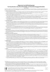 Allgemeine Geschäftsbedingungen mit Eindruck der Haftungssumme und der Kanzleidaten
