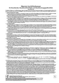 Allgemeine Geschäftsbedingungen für Steuerberater, Steuerbevollmächtigte und Steuerberatungsgesellschaften