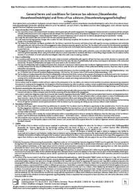 Allgemeine Geschäftsbedingungen für Steuerberater, Steuerbevollmächtigte und Steuerberatungsgesellschaften in Englisch